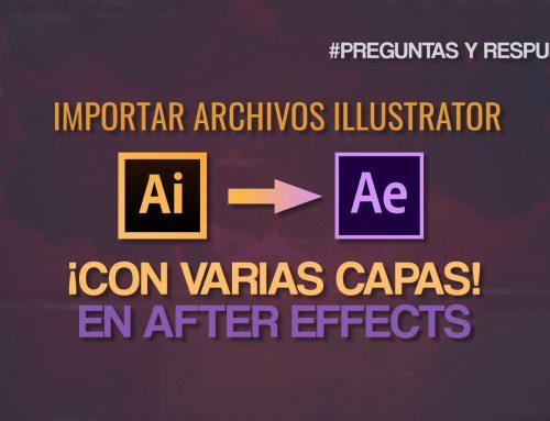 Cómo importar capas de Illustrator en After Effects